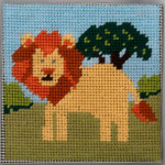 6-005 Lion 9x9 Sandra Gilmore Mesh Little Moon Qulckpoint Kit
