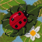 6-011 Ladybug 9x9 Sandra Gilmore 6 Mesh Little Moon Qulckpoint Kit