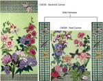 CA03C Complete Set 4 Canvas Floral & Plaid Green CHAIR CANVAS Trubey Designs