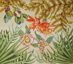 FS006A Rainforest Palmfronds 20x18,13g Trubey Designs