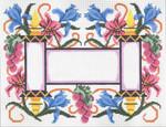 JT032X Torah Flowers Pink Tallis  Size:  13 x 10, 13g  Two A T Design