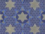 JT094 Medallion Star Blue Size:  13 x 10, 13g Tallis Two A T Design
