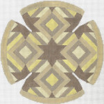 JT084A Diamond Star Taupe YARMULKE Size: 7.5 dia., 18g Two A T Design
