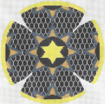 JT095A Medallion Star Taupe YARMULKE Size: 7.5 dia., 18g Two A T Design