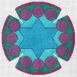 JT093A New Jerusalem YARMULKE Size: 7.5 dia., 18g Designs by Tonya
