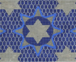 JT094B Medallion Star Blue TEFILLIN Size: 9.5 x 8,13g Two A T Design