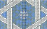 JT012C Fancy Star Periwinkle/Silver ATARAH Size: 3 x 30, 13g Two A T Designs