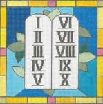 """EC02 Commandments 13g, 10"""" x 10"""" Judaic Designs by Tonya"""