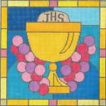 "EC03 Communion 13g, 10"" x 10"" Judaic Designs by Tonya"