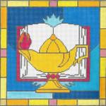 "EC08 Lamp 13g, 10"" x 10"" Judaic Designs by Tonya"