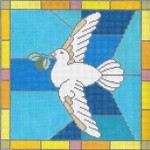 "EC15 Peace Dove 13g, 10"" x 10"" Judaic Designs by Tonya"