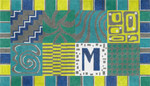 """MS051 Mod Monogram 14g, 18.5"""" x 10.5""""Machelle Somerville"""