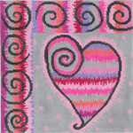 """MS072 Beating Heart (Stitch Guide included) 18g, 8"""" x 8"""" Machelle Somerville"""