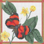"GS-031 Scarlet Tiger Butterfly   18g, 8"" x 8""  Sharon G"