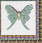 "GS-034 Luna Moth 18g, 9"" x 9""  Sharon G"