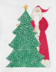 "CB-125 The Christmas Tree Santa 18g, 7.25"" x 10.75"" CURTIS BOEHRINGER"