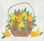"CB-160 Basket Of Pears 18g, 10.5"" x 9.25"" CURTIS BOEHRINGER"