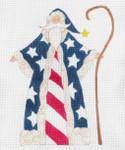 """CB-173 The USA Flag Santa 18g, 8.5"""" x 11""""CURTIS BOEHRINGER"""