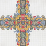 "306-FC Medieval Cross #1 18g, 13"" x 13"" Creative Needle"