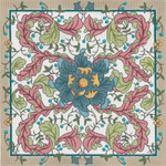 "321-A W.M.Blue Flower 13g, 13"" x 13"" Creative Needle"
