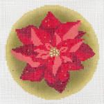 "AC-204 Gilded Poinsettia Ornament 18g, 4"" dia. Abigail Cecile"