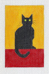 C101A Small Chat Noir 2.5x4 EyeCandy Needleart