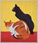 C101C Steinlen Cats 5.5 x 6.5 EyeCandy Needleart