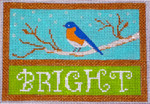 CH407B Bright Bluebird 5.25 x 3.5 EyeCandy Needleart