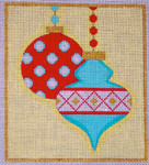 CH405A Mod Ornaments Mini - Blue/Red 5x5.75 EyeCandy Needleart