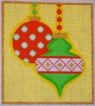 CH405B Mod Ornaments Mini - Green/Red 5x5.75 EyeCandy Needleart
