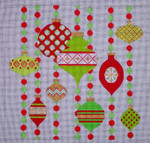 CH405M Mod Ornaments Red & Green 9.25 x 9.25 EyeCandy Needleart