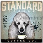 TC-SF-115 12x12 18ct Standard Poodle Tango & Chocolate Etc.