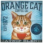 TC-SF-111 12x12 18ct Orange Cat Tango & Chocolate Etc.