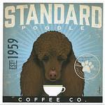TC-SF-104 12x12 18ct Standard Poodle Tango & Chocolate Etc.