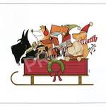 TC-SF-901 14x11 18ct Dogs On A Sled Tango & Chocolate Etc.
