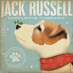 TC-SF-116 12x12 18ct Jack Russell Mistletoe Tango & Chocolate Etc.