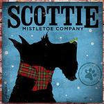 TC-SF-204 12x12 18ct Scottie Mistletoe Tango & Chocolate Etc.