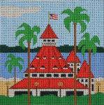 CB-6 Hotel Del Coronado 7 ½ x 8 13 Mesh CHRISTINE SAUNDERS– EYE OF THE NEEDLE