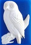 "Snowy Owl needle minder 1.5"" high x 1"" wide Kelmscott Designs"