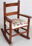 46051 Wood Stain Childs Rocking Chair Sudberry With Pattern Childs Name - Childs Chair #248 By Laura Doyle