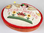 99691 Small Oval Pincushion SHAKER BOX Sudberry Pattern Included Samplers IV #62    $7.00  Designed by Donna Vermillion Giampa