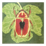Claire Lloyd Designs CL3630 - Red Scarab w/Fig Leaf