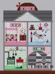 Charley Harper Cat & House HC-C199  13 Mesh 103⁄4 x 141⁄2 Treglown Designs