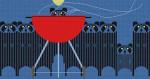 Big Rac Attack Charley Harper HC-B131  181⁄2 x 93⁄4 18 Mesh Treglown Designs