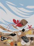 Charley Harper Crabitat 13 Mesh HC-C204 141⁄2 x 191⁄4 Treglown Designs