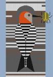 Charley Harper Baffling Belly HC-B136  13 Mesh 93⁄4 x 141⁄4 Treglown Designs