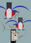 Bluebird Bungalow Charley Harper HC-B168  18 Mesh 121⁄2 x 17 Treglown Designs