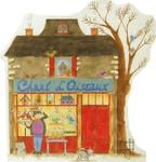 FC-119 Chant D'Oiseaux-The Birdseller's Shop 18 Mesh 14 x 16  Renaissance Designs