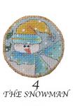"N-190/4 The Snowman 4.5"" Diameter 13 Mesh Renaissance Designs"