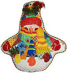 N-S-106E Patchwork Snowman  With Mittens 13 Mesh 10 x 12 With Cathi Rosengren Stitch Guide Renaissance Designs